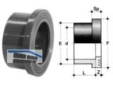 Bundbuchse, gerillt PVC-U   40 QRV 40