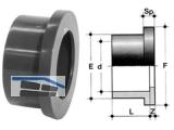 Bundbuchse, flach PVC-U   110 QPV 110
