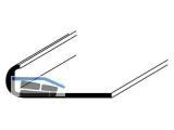 ALU-Profil natureloxiert 1000mm Abschluss-Profil 18x1mm  10260
