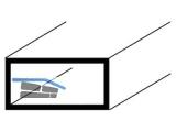 ALU-Profil natureloxiert 1000mm Rechteckrohr-Profil 20x10x1mm    10332