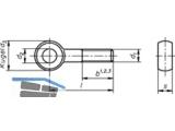 Augenschraube mit durchgehendem Gewinde verzinkt 10 x 80 Form B