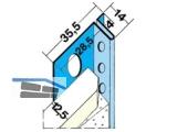 Anschlussprofil Protektor 1371  12,5 mm f.Schattenfuge 4mm (Stg.= 3m,VPE=15 Stg)