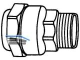 Anschlussverschraubung m. Aussengewinde Isiflo Typ 110   20 mm x1/2\