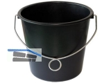 Baueimer 12 l extra stark mit Ringbügel, Verstärkungsring und Literskala