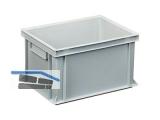 Transportstapelkasten Newbox NB20V1 400x300x220mm grau  Durchfassgriffe