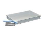 Transportstapelkasten Newbox NB15V1 600x400x75mm grau  Griffleisten