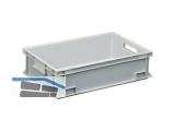 Transportstapelkasten Newbox NB33V1 600x400x150mm grau  Durchfassgriffe