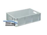 Transportstapelkasten Newbox NB34V1 600x400x170mm grau  Durchfassgriffe