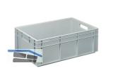 Transportstapelkasten Newbox NB42V1 600x400x220mm grau  Durchfassgriffe
