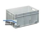 Transportstapelkasten Newbox NB50V1 600x400x236mm grau  Durchfassgriffe