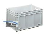Transportstapelkasten Newbox NB70V1 600x400x340mm grau  Durchfassgriffe