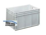 Transportstapelkasten Newbox NB80V1 600x400x420mm grau  Durchfassgriffe