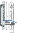 Aufnahmeelement VX 7501 3D  für Blockzarge verzinkt