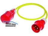 Adapterkabel K35 1,5m 5G1,5mm IP44 Eingang CEE 5x16A/Ausgang CEE 5x32A