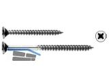 Beschlagschraube Senkkopf Phillips PH2 blau verzinkt 4.1 x 45  Kopf 7,1 mm