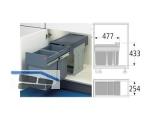 Abfallsammler Tandem 3666-10 - 2x15l Bodenmontage Graphitgr./Silbergr. 740100