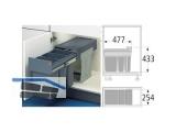 Abfallsammler Terzett 3666-13 - 3x11l Bodenmontage Graphitgrau/Silbergrau
