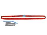 Rundschlinge 5000 kg  NL 0,5 UL 1m  rot Doppelmantel EN 1492-2