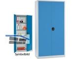 Flügeltürschrank \FORMAT\ 940/1950/400 Premium 3038.0102 grau/blau