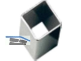 Ausgleichshülse 9/10 mm Länge = 33 mm Stahl-Präzisions-Vierkant