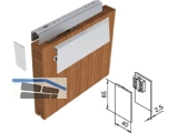 Abdeckkappenset Helm für einseitige Verblendung Holz, EV1
