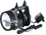 Akku Handscheinwerfer 5,5VAH3710 Halogen auf 12 LED umschaltb.mit Ladegerät+Kabel