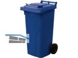 Abfall und Wertstoffsammelbehälter 120L Farbe: Blau - mit Radsatz
