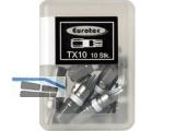 Biteinsatz 1/4\ TX10 x 25 mm silber/weiß farbcodiert/Form E 6,3 Nr.945851 (VPE10)