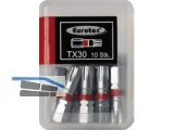 Biteinsatz 1/4\ TX30 x 25 mm rot farbcodiert/Form E 6,3 Nr.945855 (VPE10)