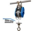 Bauseilzug BW-80 Tragfähigkeit 80kg Seil Dm 4mm Hubhöhe 23m, Sicherungshaken