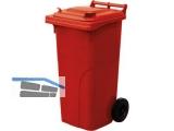 Abfall und Wertstoffsammelbehälter 120L Farbe: Rot - mit Radsatz