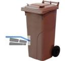 Abfall und Wertstoffsammelbehälter 120L Farbe: Braun - mit Radsatz
