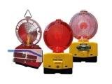 Baustellenleuchte  LED rot/glasklar  inkl. Halterung