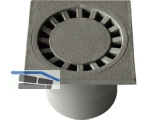 Bodenablauf universal DN50/75 senkrecht 100 x 100 mm PP lichtgrau
