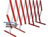 Scherengitter Holz rot-weiß lackiert ausziehbar bis 5M gehobelt Qualität A