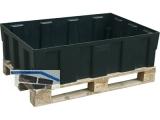 Euro-PE-Auffangwanne 250/2 mit verz. Stahlgitterrost 120,5x80,5x33
