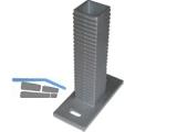 Dübelplatte für Oktavia UNI Zaunsäule 767168 120x55mm Aluminium