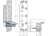 Abdeckwinkel VX 7571 KK zu Aufnahmeelement Edelstahl