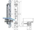 Aufnahmeelement VX 7531-3D für Blockzarge verzinkt