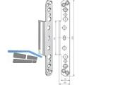 Abdeckwinkel VX 2560 KK N  zu Aufnahmeelement Edelstahl
