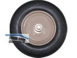 Schiebetruhen Ersatz PU Rad m.Stahlfelge 400 x 100mm  mit Achse 100x14mm