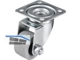 Apparate-Lenkrolle Serie ALG P-F  30 mm Platte 42x42 mm, max.  30 kg