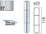 Aufsteck-Zierhülse AH320-KU-SK-EF mit Segmentkopf Edelstahlfinish