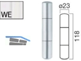 Aufsteck-Zierhülse AH320-KU-SK-WE mit Segmentkopf weiss