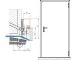 Baumeister FH Normelem. 1000x2000 rechts EI2-30 BRM 1090x2045 mm BMFH9R