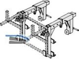 Brüstungshalter für Trägergestell für Schuttrutschen