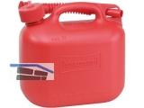 Benzinkanister 5L Kunststoff rot UN genehmigt