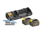 Akku-Starter-Kit Dewalt DCB132T2 54/18 Volt Doppelladegerät m.2Akkus