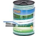 Corral Weidezaun Star Breitband 12mm  weiß/grün 1.Cu 0,3 + Ni 0,3   441501