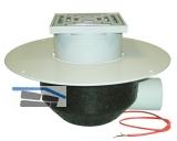 HL64.1BP/1 Dachabl. DN110 waagr m. PVC- Kragen u. Heizung 10-30W/230V. begehbar